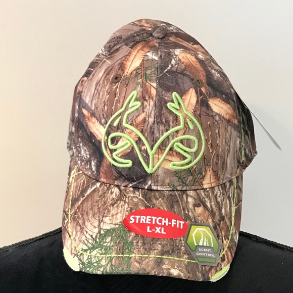 cffb38cad Realtree Accessories | Camo Fitted Mens Hat Stretch Fit Lxl | Poshmark